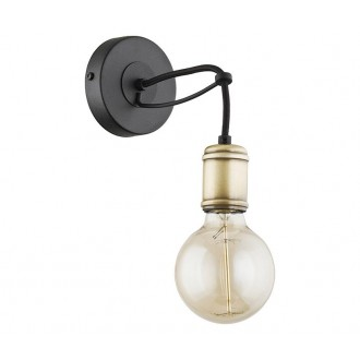 TK LIGHTING 1513 | Qualle Tk Lighting zidna svjetiljka 1x E27 crno, antik bakar