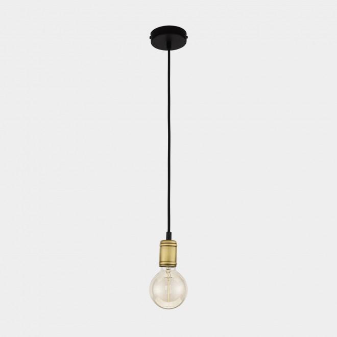 TK LIGHTING 1903 | Retro-TK Tk Lighting visilice svjetiljka 1x E27 crno, antik brončano