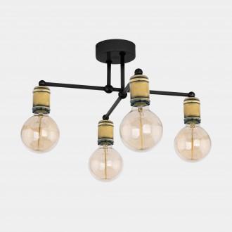 TK LIGHTING 1904 | Retro-TK Tk Lighting stropne svjetiljke svjetiljka 4x E27 crno, antik brončano