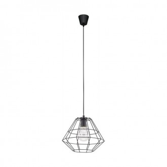 TK LIGHTING 1995 | Diamond-Black-TK Tk Lighting visilice svjetiljka 1x E27 crno