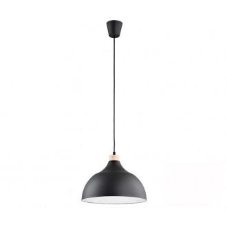 TK LIGHTING 2071 | Cap-TK Tk Lighting visilice svjetiljka 1x E27 crno, bijelo