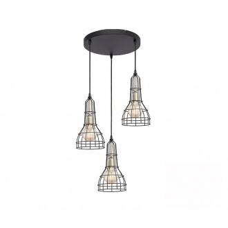 TK LIGHTING 2230 | Long Tk Lighting visilice svjetiljka 3x E27 crno, zlatno