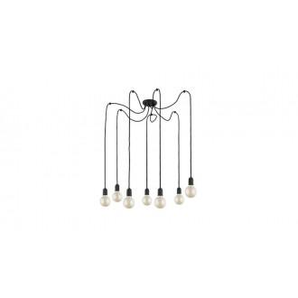 TK LIGHTING 2363 | Qualle Tk Lighting visilice svjetiljka s mogućnošću skraćivanja kabla 7x E27 crno
