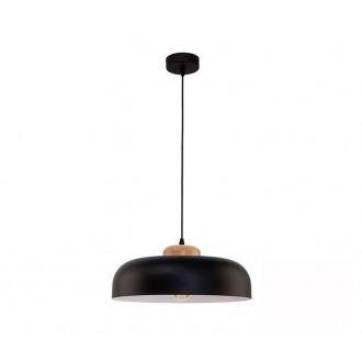 TK LIGHTING 2376 | Steel Tk Lighting visilice svjetiljka 1x E27 crno, bijelo