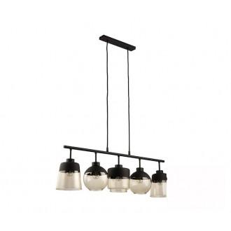 TK LIGHTING 2382 | Amber-TK Tk Lighting visilice svjetiljka s mogućnošću skraćivanja kabla 5x E27 crno, dim