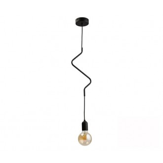 TK LIGHTING 2439 | Zigzag-TK Tk Lighting visilice svjetiljka 1x E27 crno
