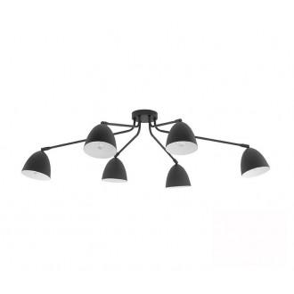 TK LIGHTING 2486 | Loretta Tk Lighting stropne svjetiljke svjetiljka elementi koji se mogu okretati 6x E27 crno, bijelo