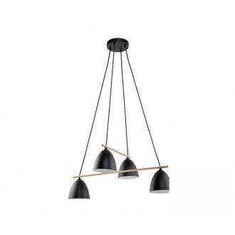 TK LIGHTING 2576 | Aida-TK Tk Lighting visilice svjetiljka 4x E27 crno, bijelo