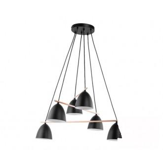 TK LIGHTING 2577 | Aida-TK Tk Lighting visilice svjetiljka 6x E27 crno, bijelo