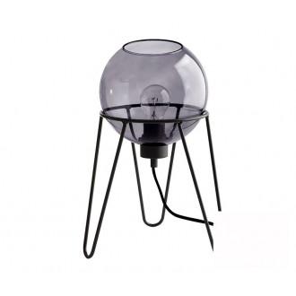 TK LIGHTING 2969 | Pobo Tk Lighting stolna svjetiljka 30cm sa prekidačem na kablu 1x E27 crno, dim