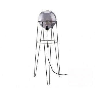 TK LIGHTING 2970 | Pobo Tk Lighting podna svjetiljka 110cm sa prekidačem na kablu 1x E27 crno, dim