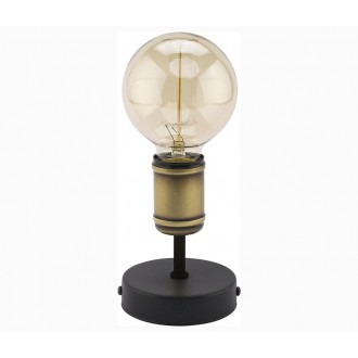 TK LIGHTING 2971 | Retro-TK Tk Lighting stolna svjetiljka 13cm 1x E27 crno, antik brončano
