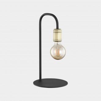 TK LIGHTING 3023 | Retro-TK Tk Lighting stolna svjetiljka 36cm sa prekidačem na kablu 1x E27 crno, antik brončano
