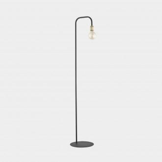 TK LIGHTING 3024 | Retro-TK Tk Lighting podna svjetiljka 155cm sa prekidačem na kablu 1x E27 crno, antik brončano