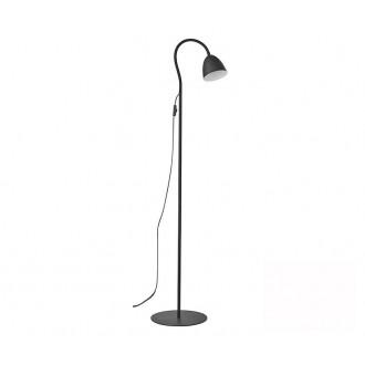 TK LIGHTING 3124 | Loretta Tk Lighting podna svjetiljka 150cm sa prekidačem na kablu fleksibilna 1x E27 crno, bijelo