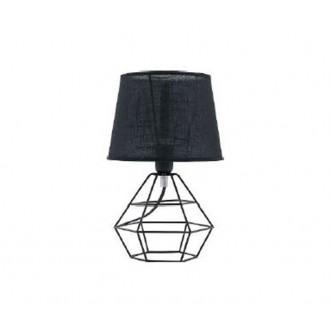 TK LIGHTING 843 | Diamond-Black-TK Tk Lighting stolna svjetiljka 34cm sa prekidačem na kablu 1x E27 crno