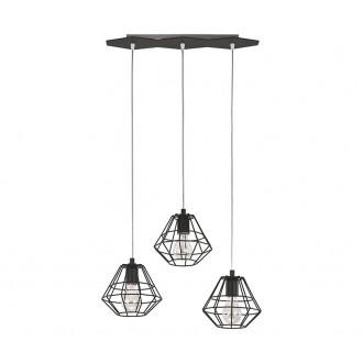 TK LIGHTING 846 | Diamond-Black-TK Tk Lighting visilice svjetiljka 3x E27 crno