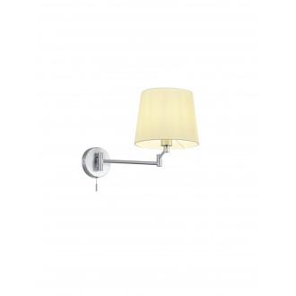 TRIO 209100107   Lyon-TR Trio zidna svjetiljka s poteznim prekidačem elementi koji se mogu okretati 1x E27 poniklano mat, bijelo