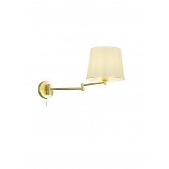 TRIO 209100108   Lyon-TR Trio zidna svjetiljka s poteznim prekidačem elementi koji se mogu okretati 1x E27 mat zlato, bijelo