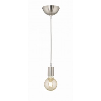 TRIO 310100107 | Cord Trio visilice svjetiljka 1x E27 poniklano mat
