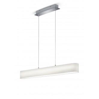 TRIO 320910101   Lugano-TR Trio visilice svjetiljka jačina svjetlosti se može podešavati 1x LED 1500lm 3000K poniklano mat, bijelo