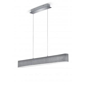 TRIO 320910111   Lugano-TR Trio visilice svjetiljka jačina svjetlosti se može podešavati 1x LED 1500lm 3000K poniklano mat, sivo