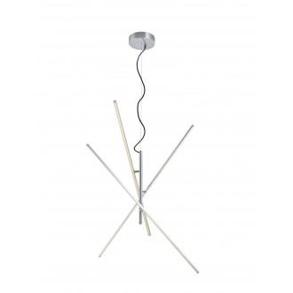 TRIO 371610307 | Tiriac-TR Trio visilice svjetiljka elementi koji se mogu okretati, jačina svjetlosti se može podešavati 3x LED 2850lm 3000K poniklano mat