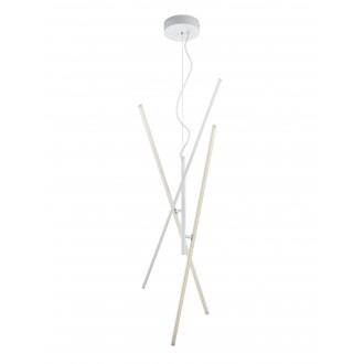 TRIO 371610331 | Tiriac-TR Trio visilice svjetiljka elementi koji se mogu okretati, jačina svjetlosti se može podešavati 3x LED 2850lm 3000K bijelo mat