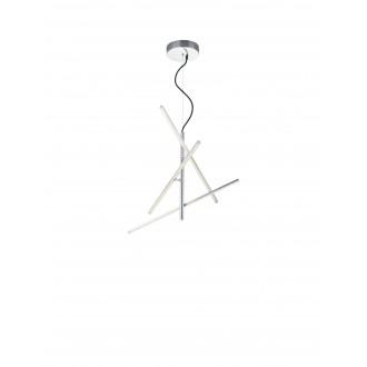 TRIO 371690307 | Tiriac-TR Trio visilice svjetiljka elementi koji se mogu okretati, jačina svjetlosti se može podešavati 3x LED 2490lm 3000K poniklano mat