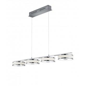 TRIO 378010407 | Agento Trio visilice svjetiljka s podešavanjem visine, jačina svjetlosti se može podešavati 4x LED 3000lm 3000K poniklano mat, sivobijela