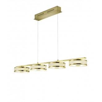 TRIO 378010408 | Agento Trio visilice svjetiljka s podešavanjem visine, jačina svjetlosti se može podešavati 4x LED 3000lm 3000K mat zlato, sivobijela
