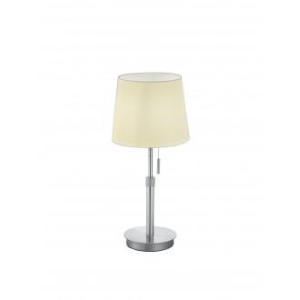 TRIO 509100107   Lyon-TR Trio stolna svjetiljka 45cm s poteznim prekidačem s podešavanjem visine 1x E27 poniklano mat, bijelo