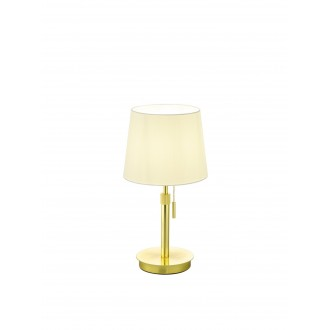 TRIO 509100108   Lyon-TR Trio stolna svjetiljka 45cm s poteznim prekidačem s podešavanjem visine 1x E27 mat zlato, bijelo