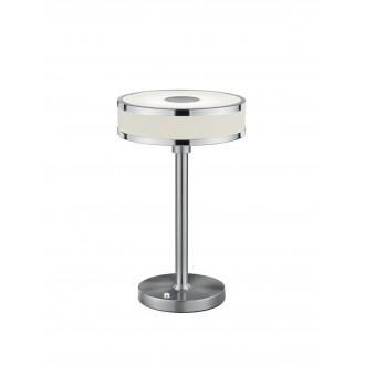 TRIO 578090107 | Agento Trio stolna svjetiljka 32cm sa tiristorski dodirnim prekidačem jačina svjetlosti se može podešavati 1x LED 750lm 3000K poniklano mat, sivobijela