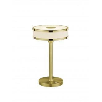 TRIO 578090108 | Agento Trio stolna svjetiljka 32cm sa tiristorski dodirnim prekidačem jačina svjetlosti se može podešavati 1x LED 750lm 3000K mat zlato, sivobijela
