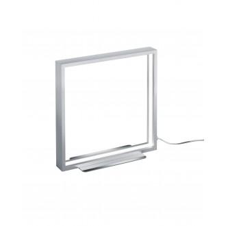 TRIO 579910105 | Azur Trio stolna svjetiljka 30cm sa prekidačem na kablu jačina svjetlosti se može podešavati 1x LED 800lm 3000K brušeni aluminij