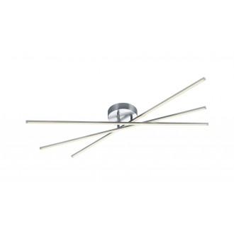 TRIO 671610307 | Tiriac-TR Trio stropne svjetiljke svjetiljka elementi koji se mogu okretati, jačina svjetlosti se može podešavati 3x LED 2850lm 3000K poniklano mat