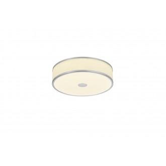 TRIO 678010107 | Agento Trio stropne svjetiljke svjetiljka jačina svjetlosti se može podešavati 1x LED 2100lm 3000K poniklano mat, sivobijela