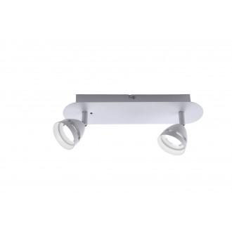 TRIO 850010231 | Gemini-TR Trio spot svjetiljka daljinski upravljač jačina svjetlosti se može podešavati, promjenjive boje 2x LED 600lm 3000 <-> 5000K bijelo mat