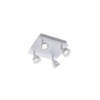 TRIO 850010431 | Gemini-TR Trio spot svjetiljka daljinski upravljač jačina svjetlosti se može podešavati, promjenjive boje 4x LED 1200lm 3000 <-> 5000K bijelo mat