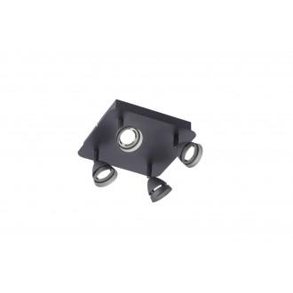 TRIO 850010432 | Gemini-TR Trio spot svjetiljka daljinski upravljač jačina svjetlosti se može podešavati, promjenjive boje 4x LED 1200lm 3000 <-> 5000K crno mat