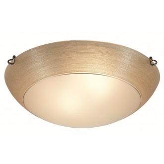 VIOKEF 3056500 | Marcela Viokef stropne svjetiljke svjetiljka 2x E27 jantar, bijelo mat, zlatno