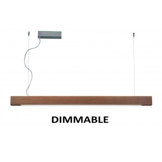 VIOKEF 3089701 | Avenue-VI Viokef visilice svjetiljka daljinski upravljač jačina svjetlosti se može podešavati 1x LED 5000lm 3000K drvo, smeđe