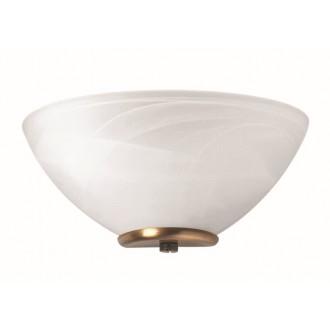 VIOKEF 330204 | Electra-VI Viokef zidna svjetiljka 1x E14 bijelo, antik, alabaster