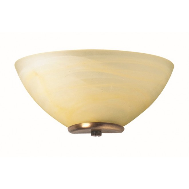 VIOKEF 330205 | Electra-VI Viokef zidna svjetiljka 1x E14 alabaster, antik, alabaster