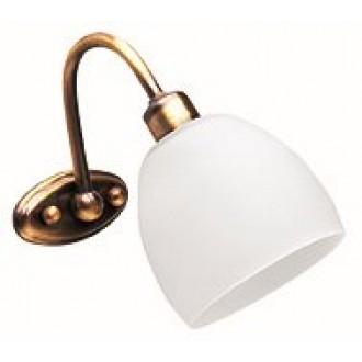 VIOKEF 351400 | Niobe Viokef zidna svjetiljka 1x E14 bijelo mat, antik