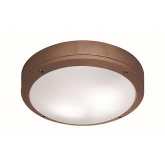 VIOKEF 4049203 | Leros Viokef stropne svjetiljke svjetiljka 2x E27 IP44 smeđe, opal