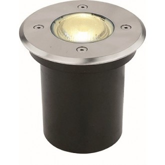 VIOKEF 4053900 | Franco-VI Viokef ugradbena svjetiljka Ø110mm 1x GU10 IP65 inox, crno