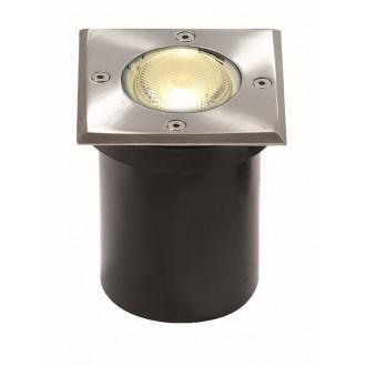 VIOKEF 4054000 | Franco-VI Viokef ugradbena svjetiljka 118x118mm 1x GU10 IP65 inox, crno