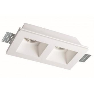 VIOKEF 4081400 | Bradley-VI Viokef ugradbena svjetiljka može se bojati 215x120mm 2x MR16 / GU5.3 / GU10 bijelo